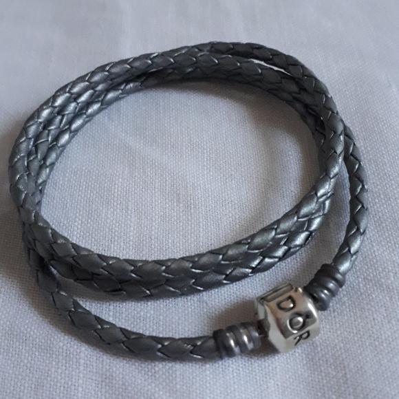 Pandora Braided Triple Leather Bracelet